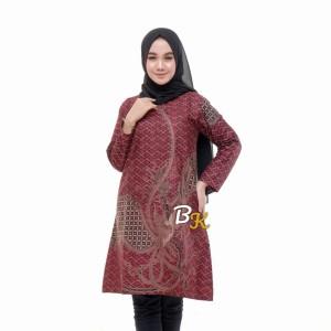 Harga atasan batik wanita modern lengan panjang atasan batik couple kemeja   tunik   HARGALOKA.COM
