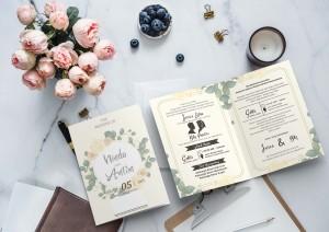 Harga undangan pernikahan jasa cetak undangan elegan | HARGALOKA.COM
