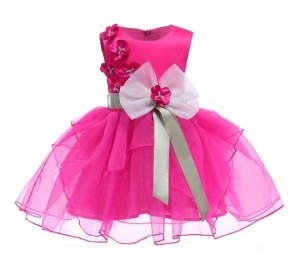 Harga baju dress pesta anak import cute dress party bloom flower | HARGALOKA.COM