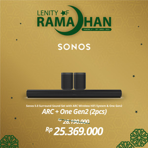 Harga sonos 5 0 2 arc with two one gen2 wireless speaker hifi | HARGALOKA.COM