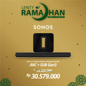Harga sonos 5 1 2 sub gen3 with arc wireless speaker hifi | HARGALOKA.COM