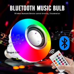 Harga lampu rgb bolham e27 with bluetooth speaker smartphone remote | HARGALOKA.COM