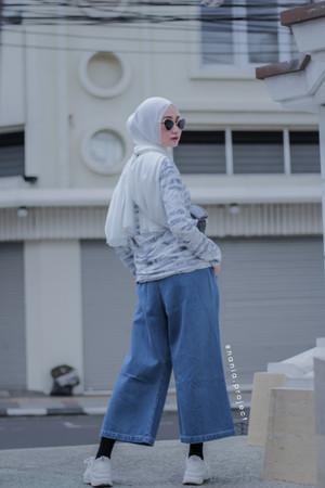Harga akarui cullote denim jeans 100 cotton kulot | HARGALOKA.COM