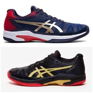 Harga sepatu tenis asics solution speed ff olahraga badminton volly premium   hitam | HARGALOKA.COM
