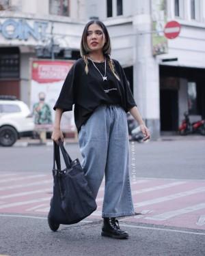 Harga kumori cullote denim jeans 100 cotton kulot | HARGALOKA.COM