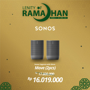 Harga sonos move two set wireless speaker hifi | HARGALOKA.COM