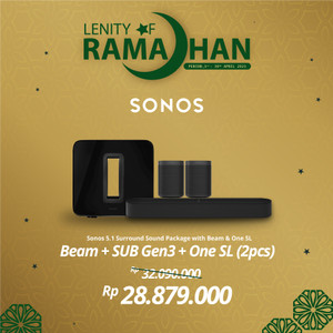 Harga sonos 5 1 sub gen3 beam amp 2 one sl wireless speaker hifi | HARGALOKA.COM