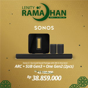 Harga sonos 5 1 2 sub gen3 arc amp two one gen2 wireless speaker hifi | HARGALOKA.COM