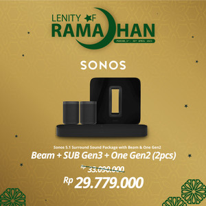 Harga sonos 5 1 sub gen3 beam amp 2 one gen2 wireless speaker hifi | HARGALOKA.COM