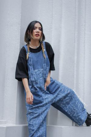 Harga hikari overall cullote denim jeans 100 cotton kulot | HARGALOKA.COM