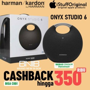Harga harman kardon onyx 6 studio hitam original bluetooth portable speaker   | HARGALOKA.COM