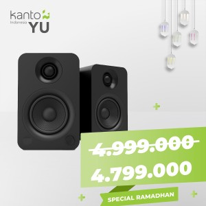 Harga kanto yu   powered bookshelf speaker bluetooth ramadhan promo | HARGALOKA.COM