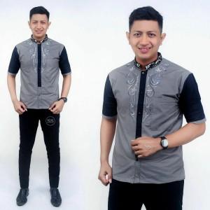 Harga murah batik kemeja hem pria motif prada kombinasi bordil baju | HARGALOKA.COM
