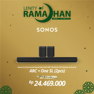 Harga sonos 5 0 2 arc with 2 one sl wireless speaker hifi | HARGALOKA.COM