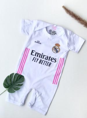 Harga jumpsuit real madrid home romper baju bola bayi real madrid   | HARGALOKA.COM