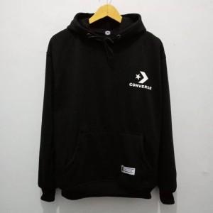 Harga jaket hoodie converse pria wanita cotton fleece terlaris   putih | HARGALOKA.COM
