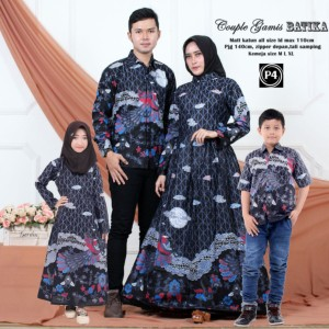 Harga baju batik couple keluarga anak cowok cewek modern kekinian   couple j kmeja | HARGALOKA.COM