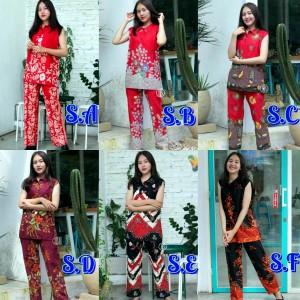 Harga setelan baju batik celana panjang wanita primis unggul | HARGALOKA.COM