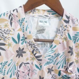 Harga custom printed scrubs baju jaga baju ok fitline wear   flower 01   HARGALOKA.COM