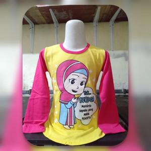 Harga baju muslim anak perempuan kaos anak tangan panjang 2 10 tahun   ungu | HARGALOKA.COM
