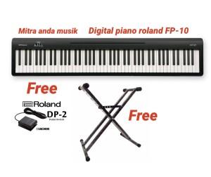 Harga keyboard digital piano roland fp10 produk   HARGALOKA.COM