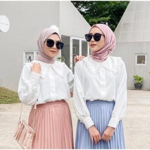 Harga baju lengan panjang wanita kenami renda baju atasan wanita terbaru   | HARGALOKA.COM