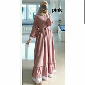 Harga gamis wanita terbaru gamis modern baju muslim terbaru gamis remaja   merah | HARGALOKA.COM