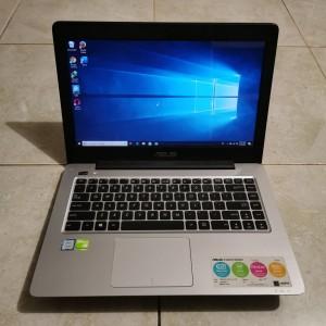 Harga laptop bekas murah asus a456urk black gen 7th ram 4gb hdd   HARGALOKA.COM