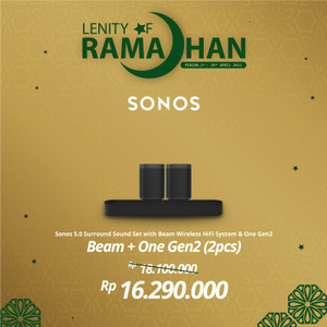 Harga sonos 5 0 beam with two one gen2 wireless speaker hifi | HARGALOKA.COM