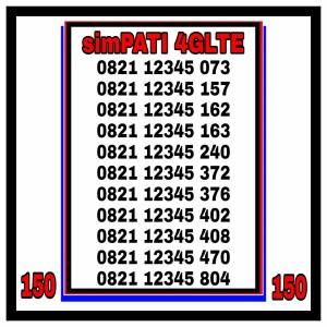 Harga nomor cantik simpati telkomsel 4glte   HARGALOKA.COM