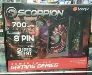 Harga power supply pc gaming magix scorpion 700w 8 pin   psu pc 700 | HARGALOKA.COM
