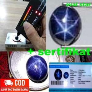 Harga batu blue sapphire 100persen original natural 6 star   oval | HARGALOKA.COM
