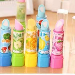 Harga penghapus lipstik lipstick eraser anak sekolah alat tulis   eraser | HARGALOKA.COM