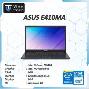 Harga laptop murah asus e410ma n4020 4gb 128ssd 64 64 w10 blk   non   HARGALOKA.COM