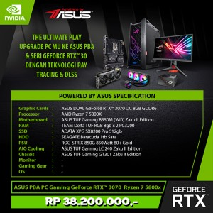 Harga asus pba pc gaming geforce rtx 3070 amd ryzen 7 5800x   zaku | HARGALOKA.COM
