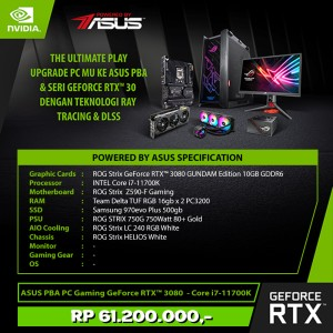 Harga asus pba pc gaming geforce rtx 3080 intel core | HARGALOKA.COM
