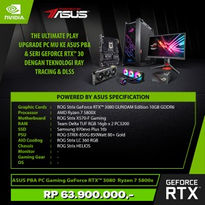 Harga asus pba pc gaming geforce rtx 3080 amd ryzen 7 5800x   white | HARGALOKA.COM
