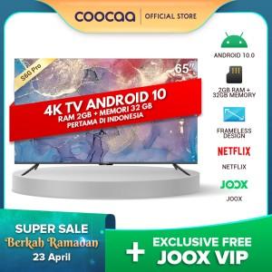 Harga coocaa 65 inch 4k smart tv   tv android 10 0 pertama di indonesia   HARGALOKA.COM