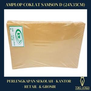 Harga amplop coklat samson d ukuran 24x35cm amplop dokumen lamaran | HARGALOKA.COM