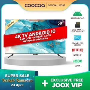 Harga coocaa 50 inch 4k smart tv   tv android 10 0 pertama di indonesia   HARGALOKA.COM