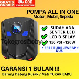 Harga pompa ban mobil sepeda motor elektrik portable serbaguna 12v inflator   150 psi model   HARGALOKA.COM