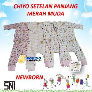 Harga chiyo setelan baju dan celana panjang bayi newborn motif merah muda   | HARGALOKA.COM