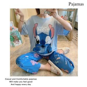 Harga sleepwear piyama stitch real picture   HARGALOKA.COM