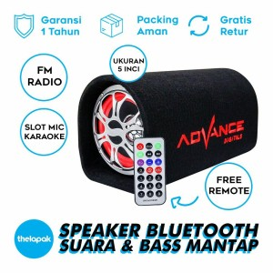 Harga speaker bluetooth portbale advance t 101 bt 5 | HARGALOKA.COM