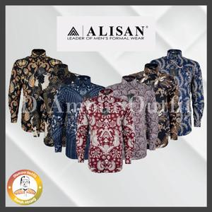 Harga kemeja batik alisan kemeja batik alisan lengan panjang slim fit batik   navy hitam 105 sf 14 5  s | HARGALOKA.COM