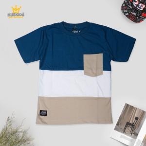 Harga muskids baju anak laki laki comb blue white   | HARGALOKA.COM