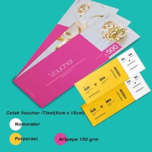 Harga cetak tiket kupon doorprice voucher 6 x 15 cm | HARGALOKA.COM