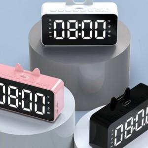 Harga speaker bluetooth jam alarm q5 phone stand holder digital | HARGALOKA.COM