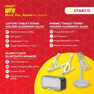 Harga starco laptop tablet phone stand holder speaker bluetooth jam hp | HARGALOKA.COM
