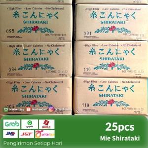 Harga mie shirataki basah biru 1 dus khusus gojek grab   HARGALOKA.COM
